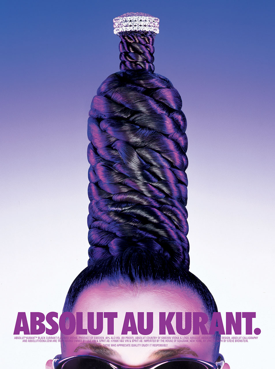 Print ad campaign for Absolut Kurant flavored vodka released to major consumer publications nationwide.