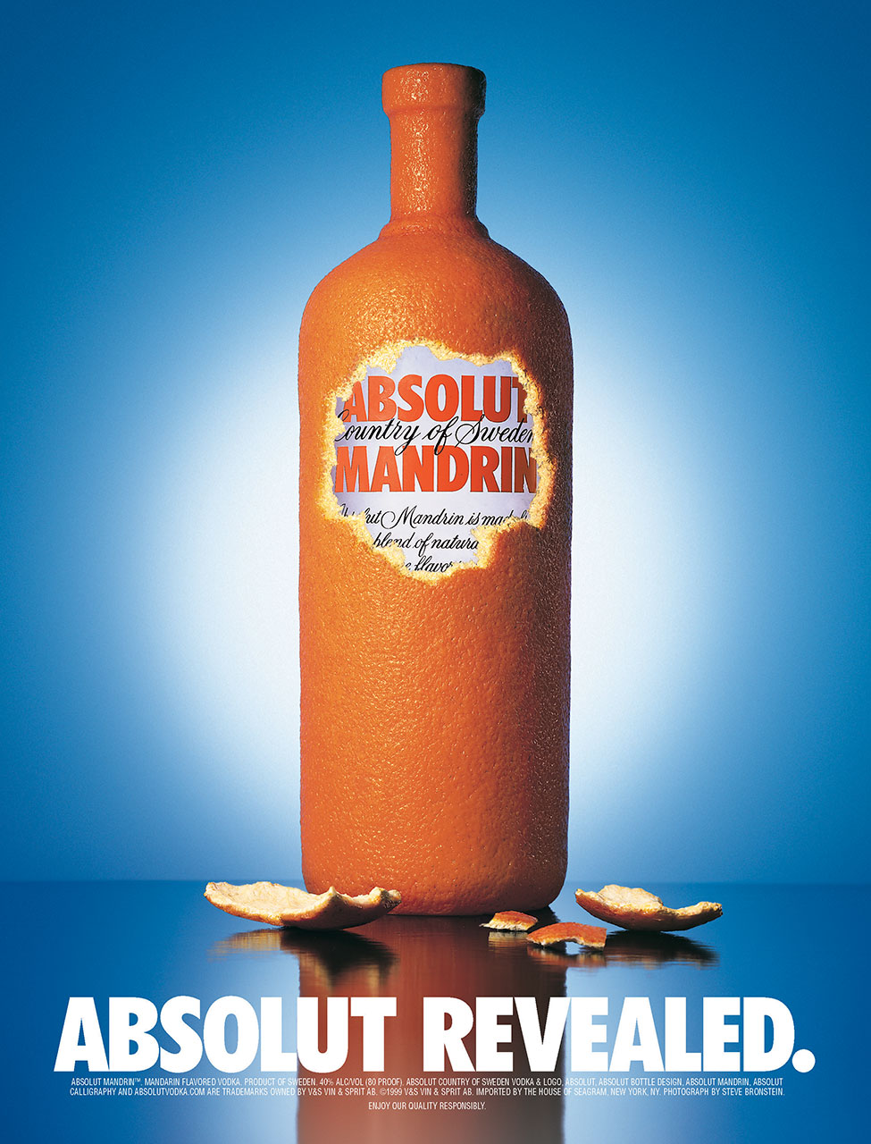 Print ad campaign for Absolut Vodka released to major consumer magazines nationwide.