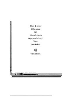 Apple PowerBook G4 'Think Different' print ad translated to Spanish for launch in European Publications.