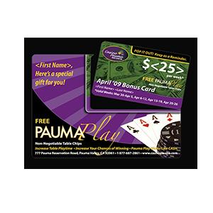 Casino Pauma Print Mail