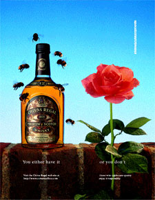 Print ad for Chivas Regal released to consumer publications nationwide.