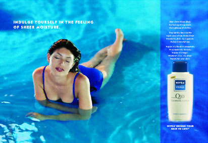 Print ad campaign for Nivea released across major consumer publications nationwide.